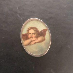 Antique Cherub Brooch